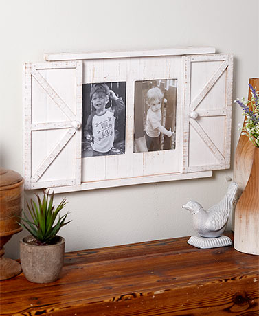 Rustic Barn Door Photo Frames