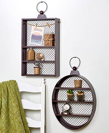 Rustic Metal Wall Shelves