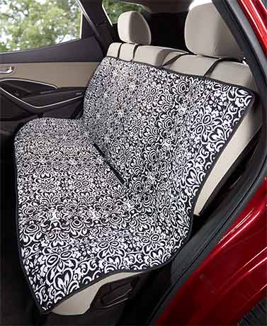 Damask Quilted Car Seat Cover
