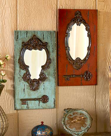 Vintage Key Wall Mirrors