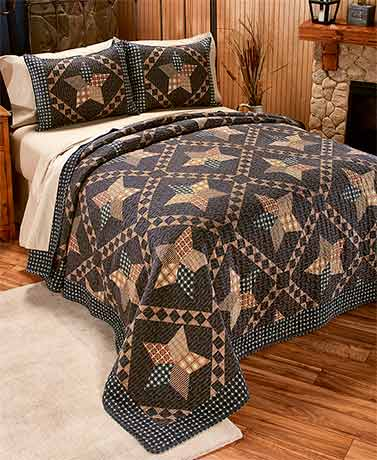 3-Pc. Primitive Quilt Set