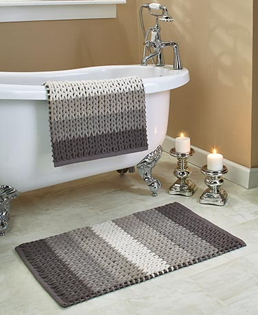 2-Pc. Braided Chenille Bath Rug Sets
