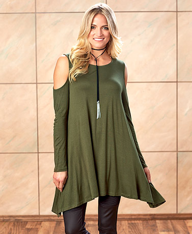Cold Shoulder Swing Tunics