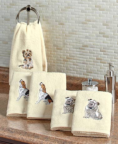 Sets of 2 Dog Breed Hand Towels