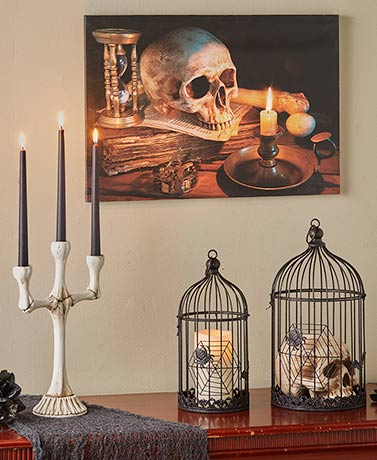 Cages and Bones Halloween Decor