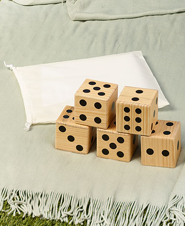 Jumbo Wood IndoorOutdoor Games - Set of 5 Jumbo Dice