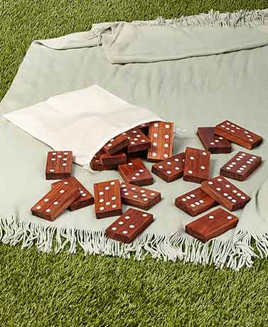 Jumbo Wood IndoorOutdoor Games - 28-Pc. Jumbo Dominoes