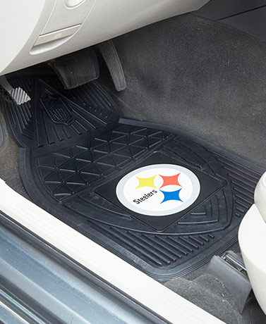 Sets of 2 NFL Heavy-Duty Vinyl Car Mats