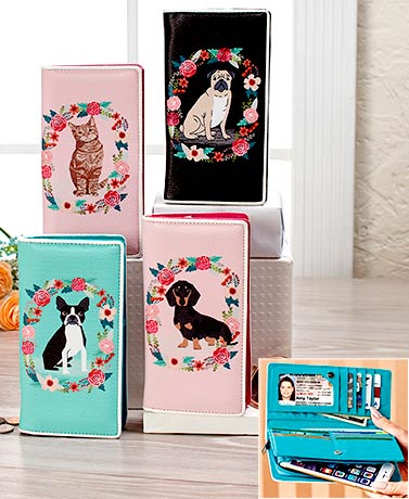 Floral Animal Large Organizer Wallets