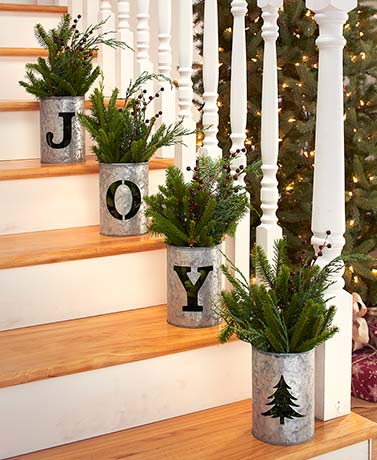 4-Pc. Galvanized Holiday Buckets