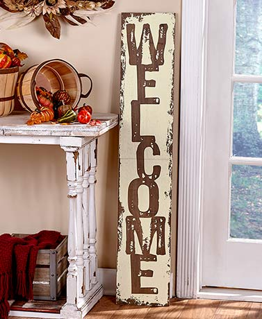 "47"" Rustic Welcome Sign"