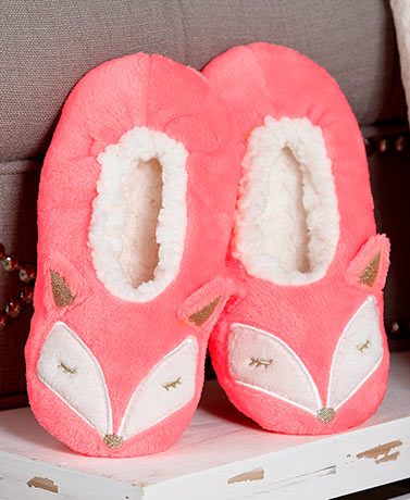 Fuzzy Babba™ Women's Fox Critter Slippers