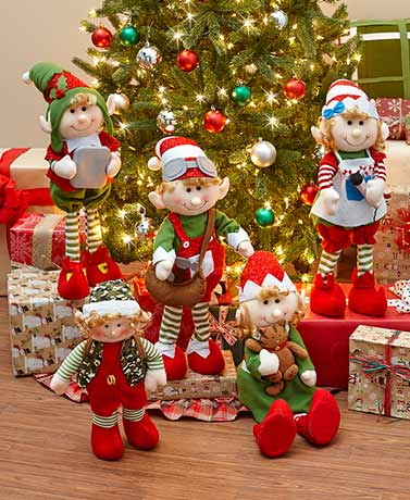 2-Ft. Decorative Holiday Elves