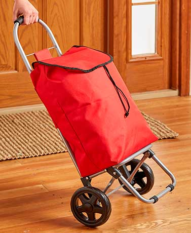 Multipurpose Folding Utility Cart with Tote