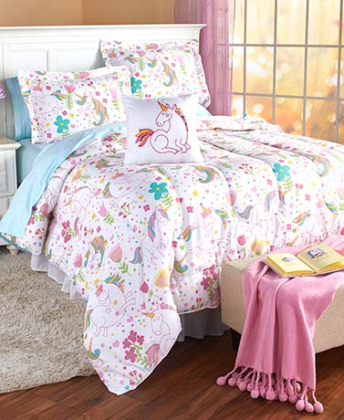 Mermaid or Unicorn Comforter Sets