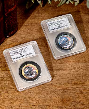 Collectible NFL Helmet Logo Half Dollar Coins