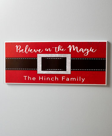 Santa Belt Personalized Holiday Wall Plaques