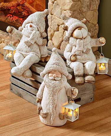 Oversized Holiday Shelf Sitter with Lantern