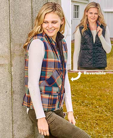 Reversible Plaid Riding Vests