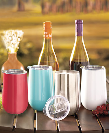 16-Oz. Stainless Steel Stemless Wine Tumblers
