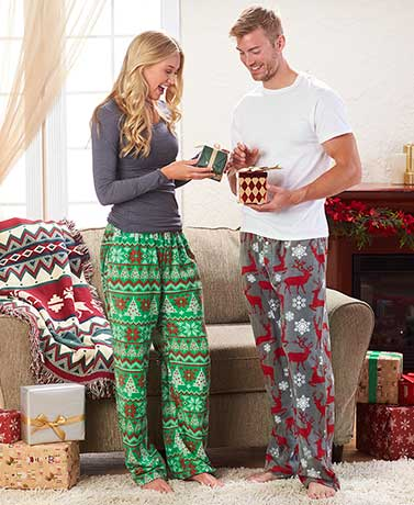 Cozy Festive Fleece Lounge Pants