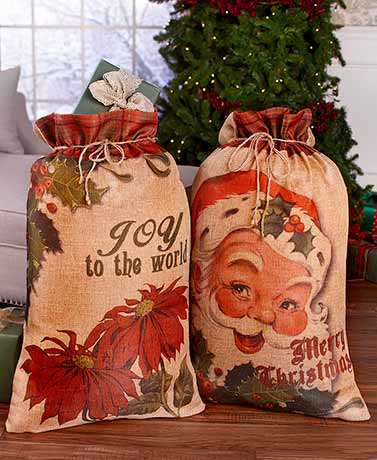 Sets of 2 Oversized Gift Sacks