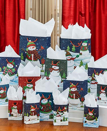 42-Pc. Holiday Gift Bag Sets