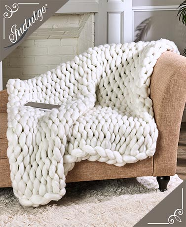Chunky Arm Knit Throws
