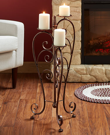 Iron Pillar Candle Stand