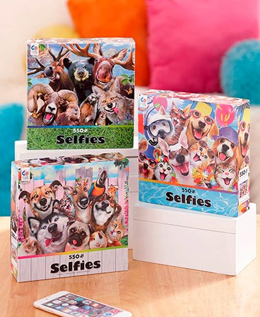 550-Pc. Pet Selfie Puzzles