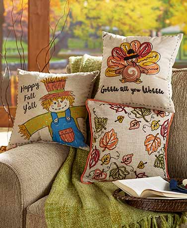 Harvest Embellished Pillows