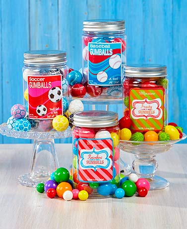 Themed Gumball Jars