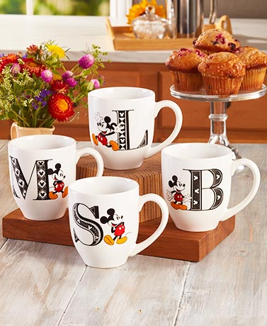 Mickey Mouse Monogram Mugs