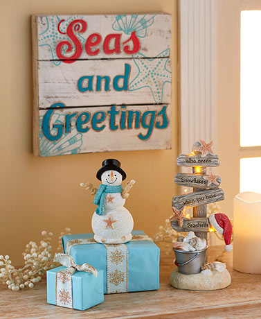 Seas and Greetings Holiday Decor