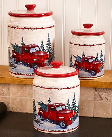 Vintage Country Set of 3 Canisters