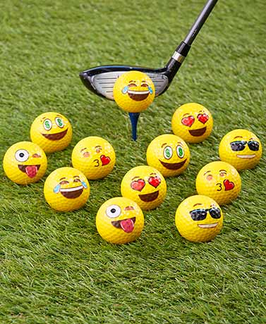 Emoji Universe™ Set of 12 Golf or Ping Pong Balls