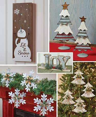 Farmhouse Country Christmas Decorations