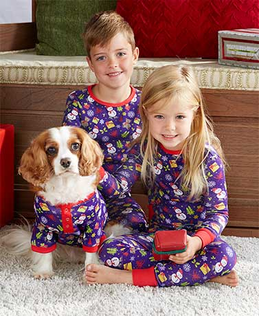 Matching Children and Pet Christmas Pajamas