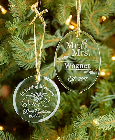 Personalized Glass Ornaments