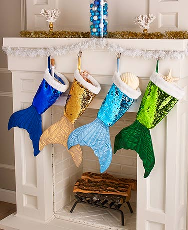 Mermaid Tail Reversible Sequin Stockings