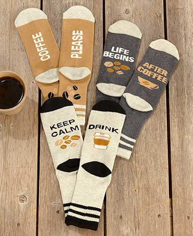 3-Pair Coffee Slipper Socks