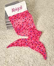 Personalized Mom and Me Mermaid Tail Blankets