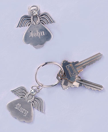 Personalized Angel Key Ring or Visor Clip
