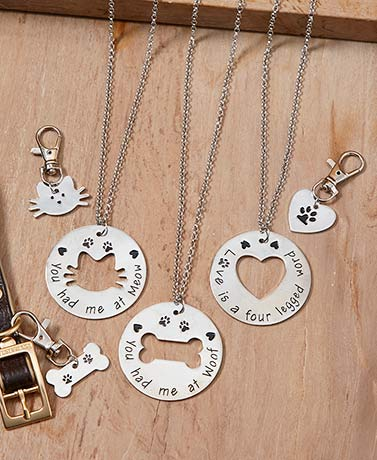 Pet and Owner Necklace and Charm Sets