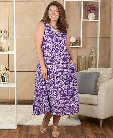 Women's Plus Floral Printed Dresses