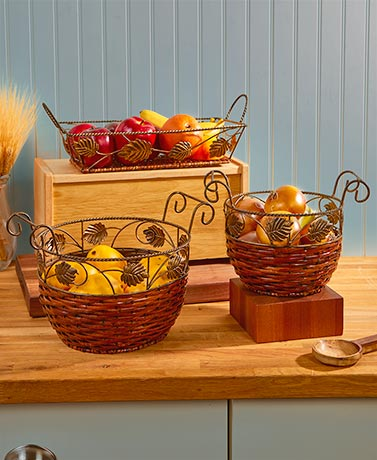 Countertop Kitchen Baskets