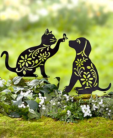 Metal Animal Silhouette Garden Stakes