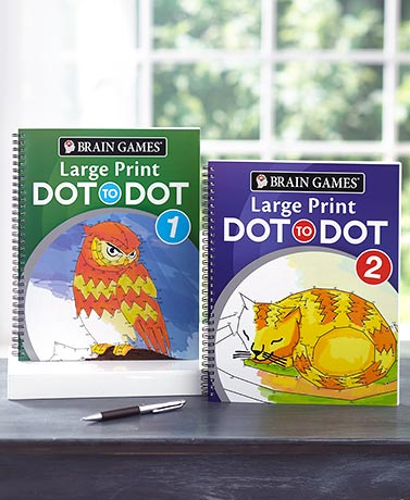 Brain Games® Large Print Dot-to-Dot Books
