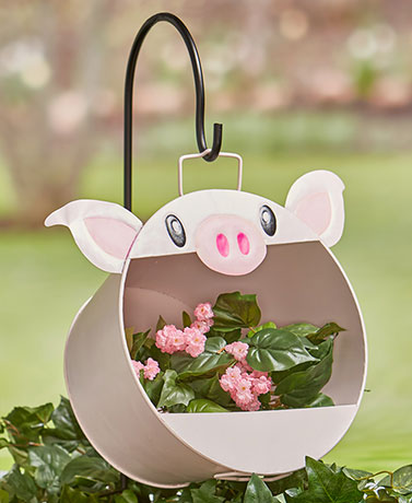 Hanging Animal Planter with Shepherd's Hook