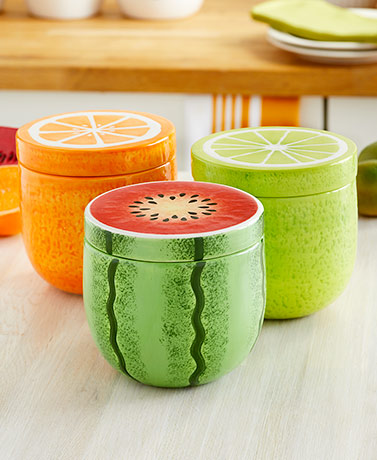 Colorful Fruit Canisters